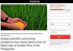 peticion contra destruccion campos transgenicos