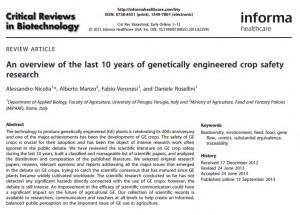 informe transgenicos italia revision biotecnologia