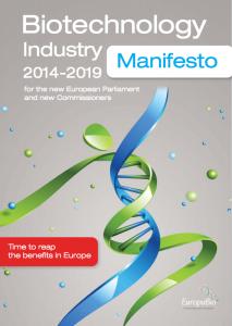 europabio manifiesto biotencnologia