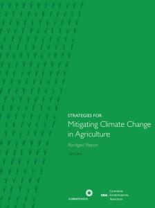 Mitigando el cambio climático en la agricultura