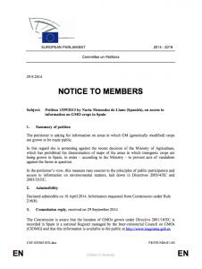 Transparencia OMGs España
