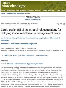Estudio chino transgenicos resistencias