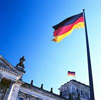 bandera alemania edificio