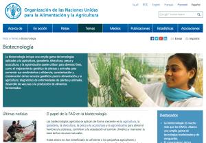 Especial biotecnologia FAO