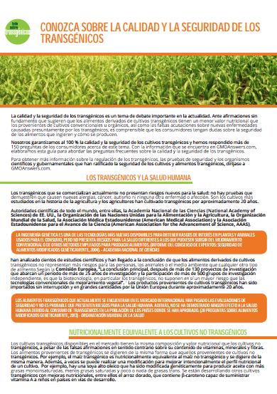 GMO Answers infografia seguridad OMGs