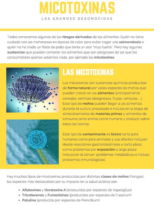 Micotoxinas – Las grandes toxinas