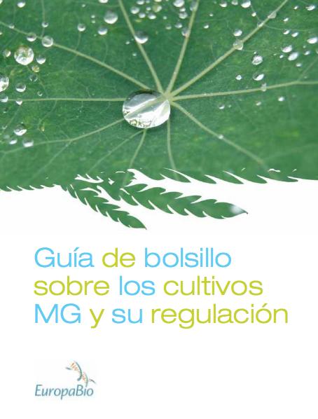 Guia de bolsillo sobre los cultivos MG y su regulación